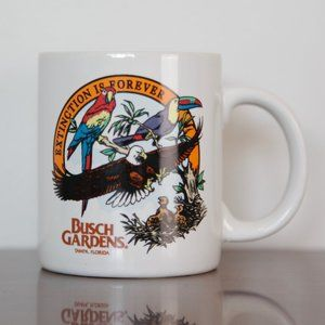 "Busch Gardens ""Extinction is Forever"" Birds Mug"